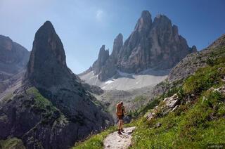 Dolomites, Italy, Zwolferkofel, Strada degli Alpini