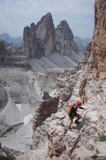 Dolomites, Italy, via ferrata, Monte Paterno, Tre Cime, Sentiero delle Forcella
