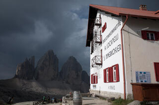 Dolomites, Italy, Locatelli Hut, Tre Cime