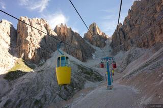 Dolomites, Italy, Cristallo, gondola