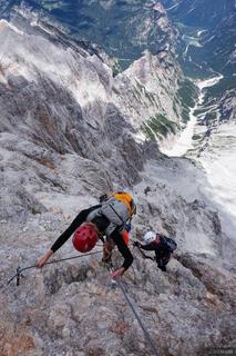 Downclimbing Cristallo