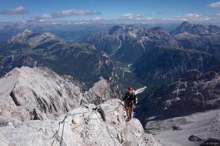 Dolomites, Italy, via ferrata, Cristallo