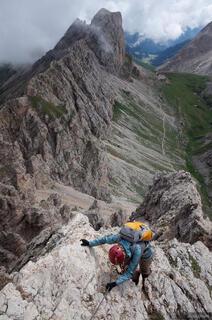 Dolomites, Italy, Rosengarten, via ferrata, Maximilian, Maximiliansteig, Alpe di Tires