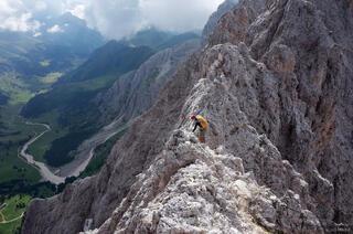 Dolomites, Italy, Rosengarten, via ferrata, Laurenzi, Molignon