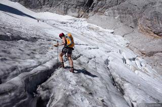 Zugspitze, Wetterstein, Germany, glacier, hiking