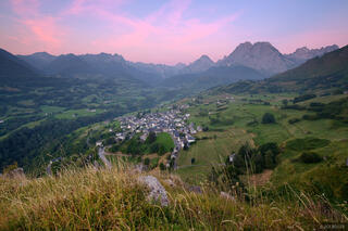 Lescun, France, Pyrenees, sunrise, town