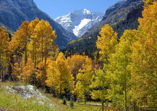 San Juan Mountains, Colorado, autumn, aspens, United States Mountain, Camp Bird