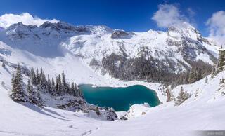 Blue Lakes Winter Panorama