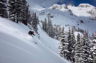 Ski, San Juan Mountains, Colorado, November