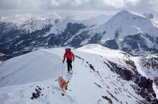 Colorado, Red Mountain Pass, San Juan Mountains, skiing