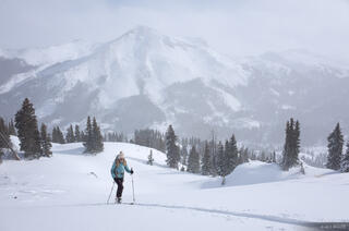 Colorado,December,Red Mountain Pass,San Juan Mountains,skiing