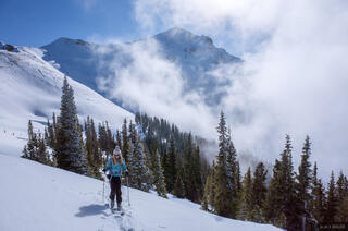 Colorado, Red Mountain Pass, San Juan Mountains, skiing