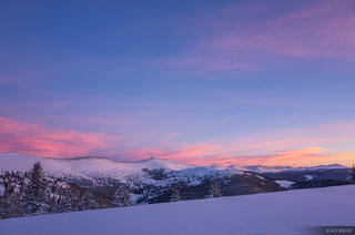 Colorado, Fowler Hilliard Hut, Gore Range, January, sunset