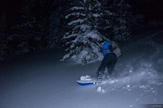 Colorado,Fowler Hilliard Hut,Gore Range, snowboarding, January, moonlight
