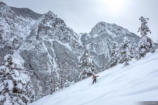Colorado, San Juan Mountains, Weehawken, skiing, February, powder
