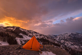 Bridge of Heaven,Colorado,San Juan Mountains,camping,tent, February, sunrise