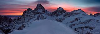 Grand Teton, panorama, sunrise, Tetons, Wyoming, Table Mountain