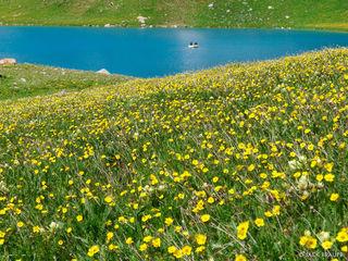 Ice Lakes Basin, San Juan Mountains, Colorado, raft, lake