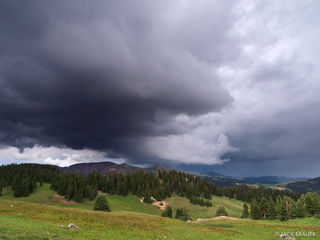 ominous cloud, South San Juans, Colorado