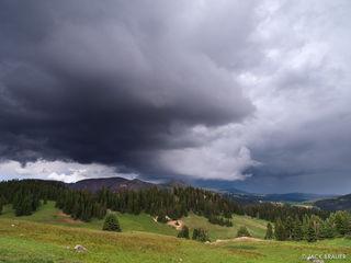 ominous cloud, South San Juans, Colorado