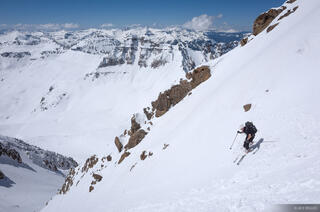 Colorado,Mt. Sneffels,San Juan Mountains,Sneffels Range, skiing