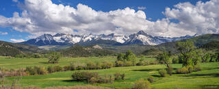 Mt. Sneffels, Double RL, ranch, Ridgway, Colorado,San Juan Mountains,Sneffels Range, panorama