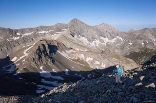Blanca Peak and Hiker