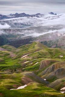 Colorado,San Juan Mountains,Stony Pass,Weminuche Wilderness, clouds, tundra