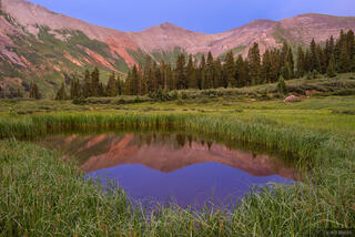 Colorado,San Juan Mountains, Grand Turk, reflection
