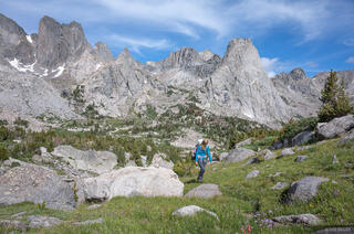 Hiking in the Cirque of the Towers
