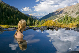 Colorado, Conundrum Hot Springs, Elk Mountains, Aspen, Maroon Bells-Snowmass Wilderness