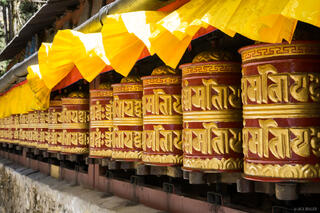 prayer wheels, Himalaya,Khumbu,Khumjung,Nepal