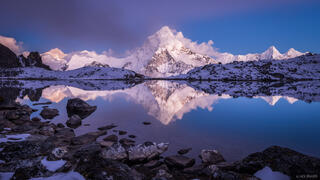 Ama Dablam Alpenglow Reflection