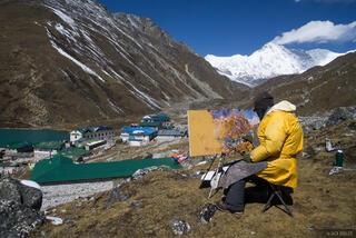 Gokyo,Himalaya,Khumbu,Nepal, painting