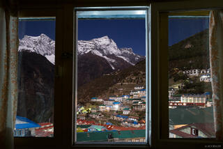 Himalaya,Khumbu,Namche Bazaar,Nepal,moonlight, window