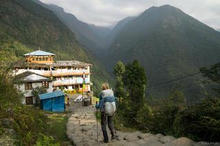 Annapurna Range, Chomrong, Himalaya, Nepal, hiking