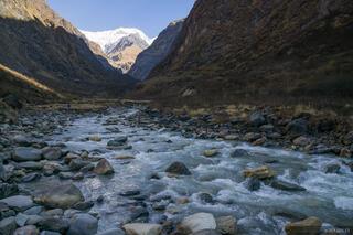 Annapurna Range,Asia,Himalaya,Nepal, Modi Khola, river