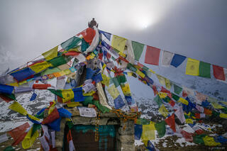 Annapurna Range,Himalaya,Nepal,prayer flags