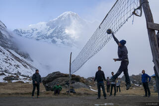 Annapurna Base Camp,Annapurna South,volleyball,Himalaya,Nepal