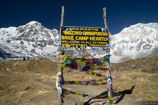 Annapurna,Annapurna Base Camp,Annapurna South,Himalaya,Nepal, sign