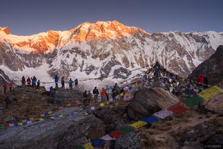Annapurna,Himalaya,Nepal,prayer flags, Annapurna Base Camp