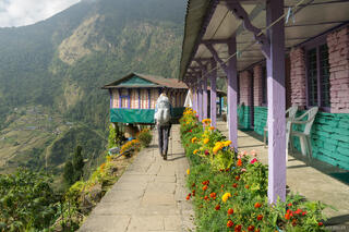 Annapurna Range, Himalaya, Nepal, hiking. teahouse