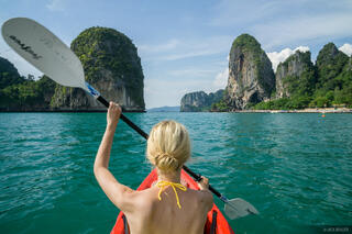 Railay, Thailand, kayak, Andaman Sea