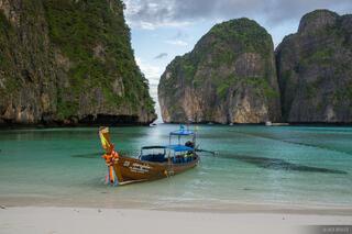 Ko Phi-Phi Leh, Thailand, Andaman Sea, boat, beach