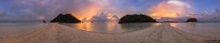 Thailand, Tup Island, Andaman Sea, beach, Ao Nang, panorama