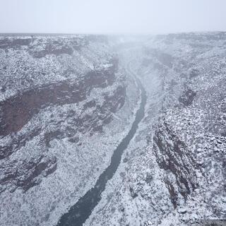 New Mexico,Rio Grande,Taos, Rio Grande Gorge, snow