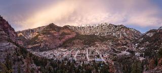 Colorado,Ouray,San Juan Mountains, sunset, panorama
