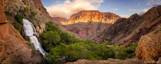 Arizona,Grand Canyon,Thunder River,panorama,waterfall