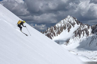 Colorado, San Juan Mountains, Sneffels Range, skiing, Yankee Boy Basin