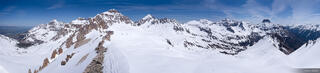 Mt. Sneffels, Sneffels Range, San Juan Mountains, Colorado, Gilpin Peak, Potosi Peak, June, 14er, panorama
